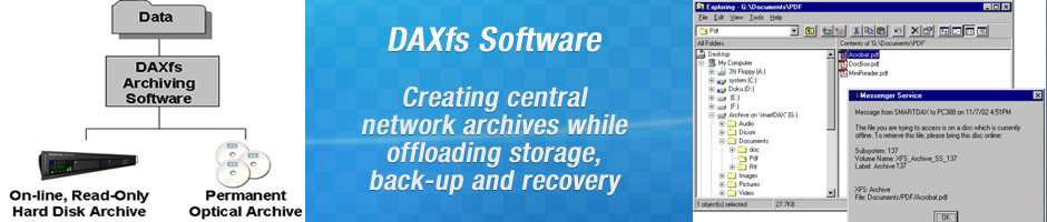 PRODUCTS - DAXfs Archiving Software - Solution