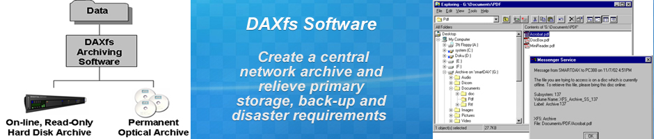 PRODUCTS - DAXfs Archiving Software - Benefits
