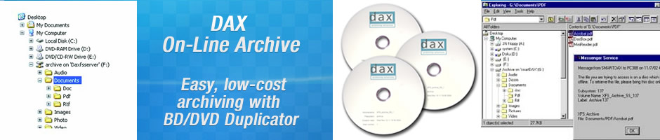 PRODUCTS - DAX On-Line Archive - Solution