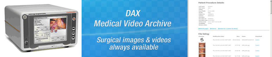 SOLUTIONS - DAX Medical Video Archive - Benefits