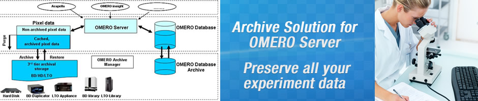 SOLUTIONS -  Archive Solution for OMERO Server